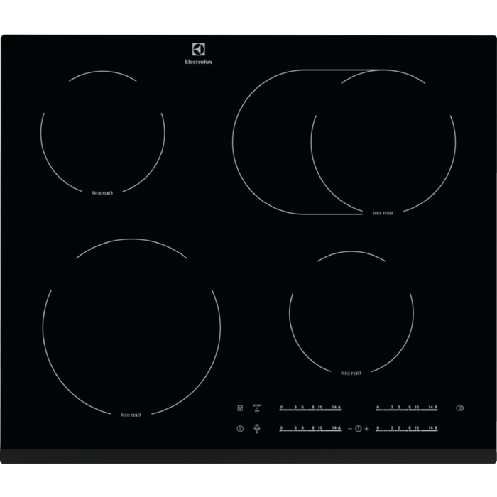 ELECTROLUX EHF65451FK Sklokeramická deska