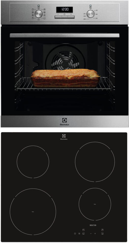 SET Trouba Electrolux 600 FLEX SurroundCook EOF3H40X + Indukční deska Electrolux EHH6240ISK