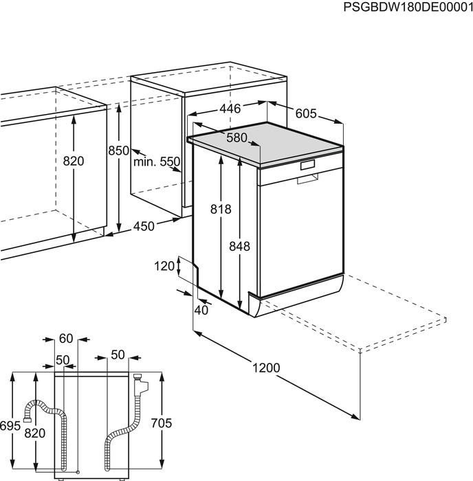 Electrolux ESA22100SW Myčka nádobí 45 cm