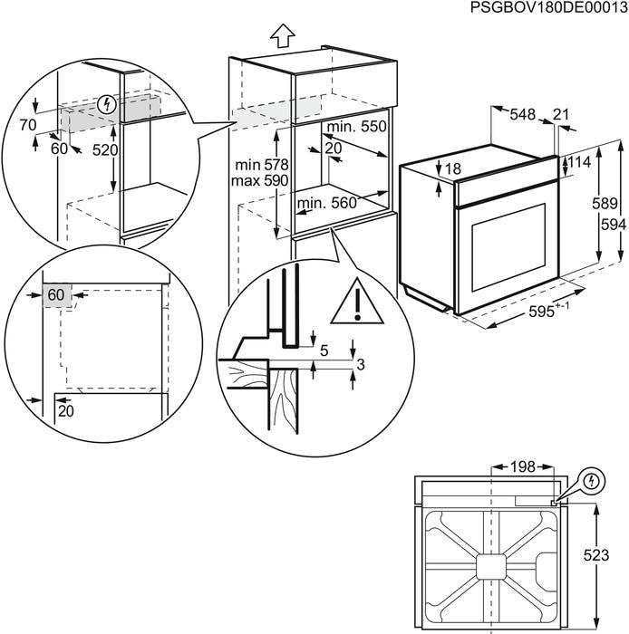 Set Electrolux EOF4P74X Vestavná trouba + M3HCC200 Čistič varných desek