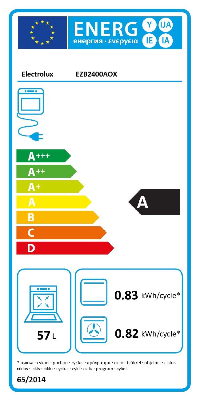 Set Electrolux EZB2400AOX + EHF6241FOK + EMS4253TEX + EEA27200L