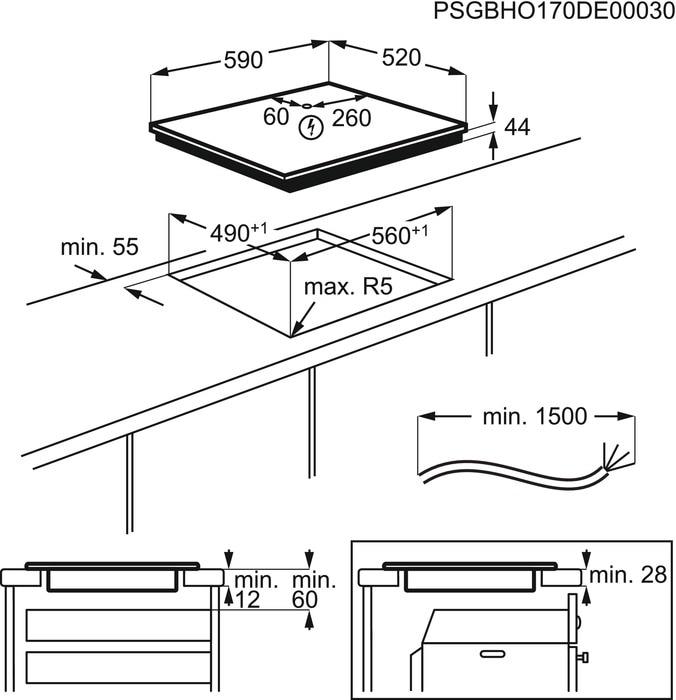 Set Electrolux LIR60430 Indukční deska + M3HCC200 Čistič varných desek