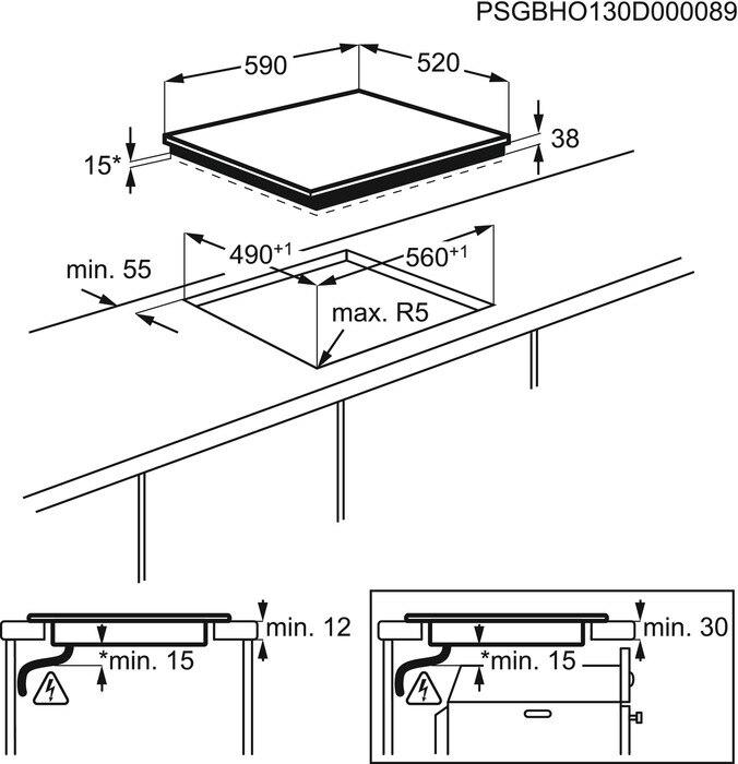 Set Electrolux EHF6547FXK Sklokeramická deska + M3HCC200 Čistič varných desek